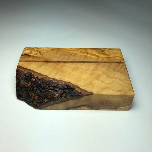 Greek OliveWood Business Card Holder
