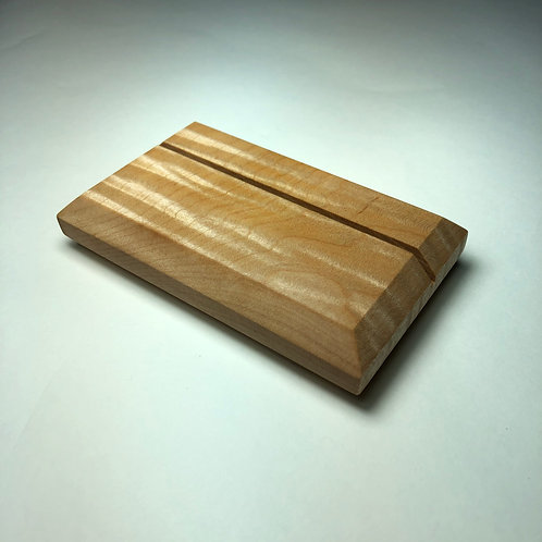 Curly Maple Business Card Holder