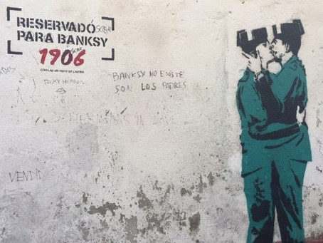 Too good to be true! An artwork, attributed to Banksy, located in the city of Ferrol, northern Spain