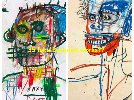 Exhibition of 35 fake Basquiat drawings?