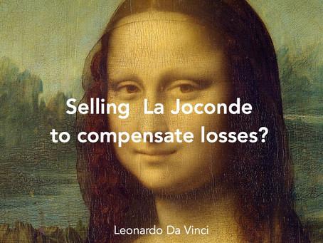 Selling Mona Lisa to compensate France € 500 Billion loss?
