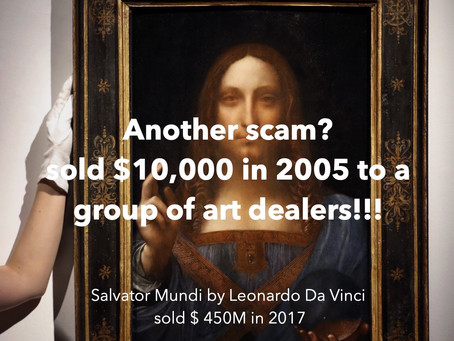 Bought $10,000 by dealers in 2005, Da Vinci art sells $ 450M in 2017?