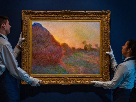 Claude Monet painting sold  $ 117 M., last night Sotheby's NY.