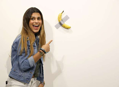 A banana taped to the wall sold $120K , Art Basel Miami! Is this art?