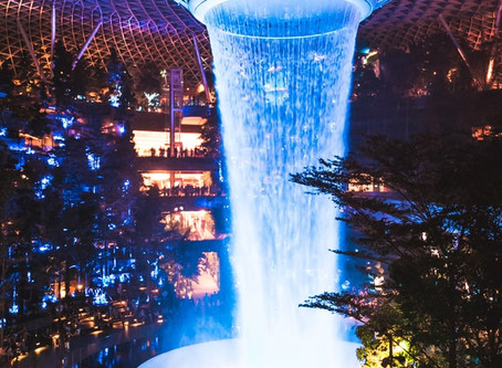 Attracting Wealth - The Rain Vortex, the Largest Indoor Waterfall in the World
