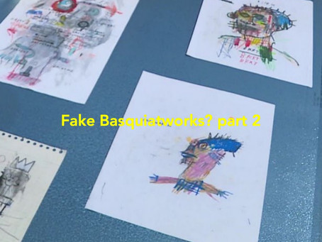 Exhibition fake Basquiat works, part 2