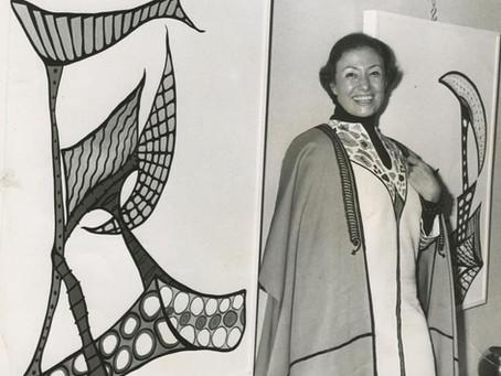 Huguette El Khoury Caland, Lebanese artist and designer