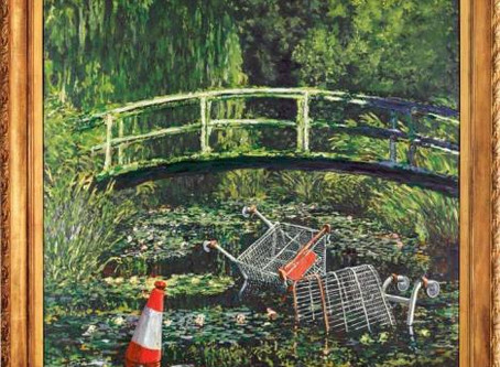 Show me the Monet, by Banksy, sold $ 10M.