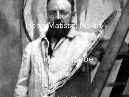 Henri Matisse, his art + video youtube