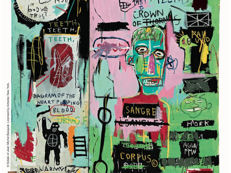 Peter Brant, N.Y. businessman, opens a new Art Center with an exhibition of his works by Basquiat.
