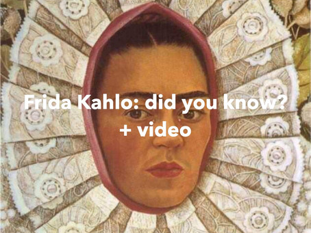Did you know about Frida Kahlo?