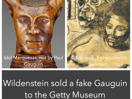 Fake Gauguin bought by Getty + video of Gauguin's art