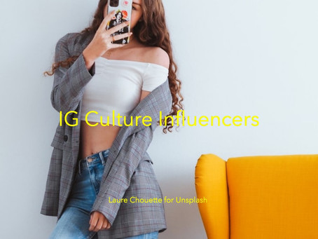 Instagram culture influencers.