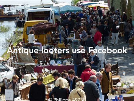 Antique looters using Facebook