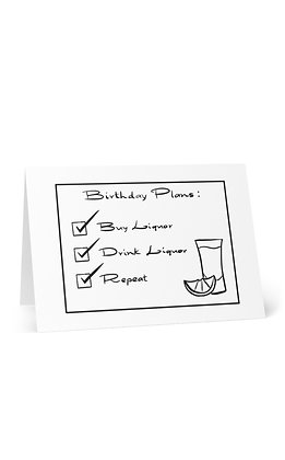 Birthday Plans