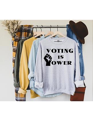 Voting Is Power Crew Neck