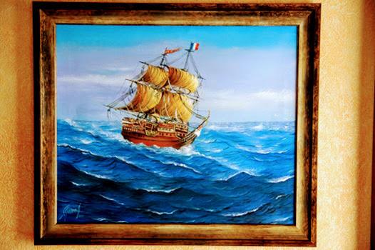 Crêperie breton traditional La Frégate Guidel pays de Lorient painting Frégate