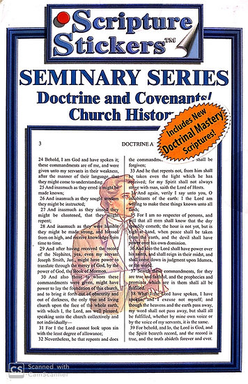 Seminary - D&C / Church History