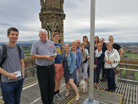 On top of Worcester Cathedral, 2018