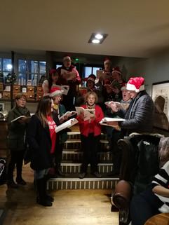 Christmas Carols at The Greyhound pub in Carshalton December 2019