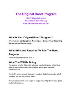Original Band Program