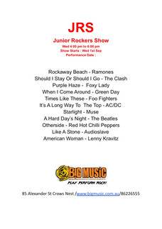 JRS Setlist