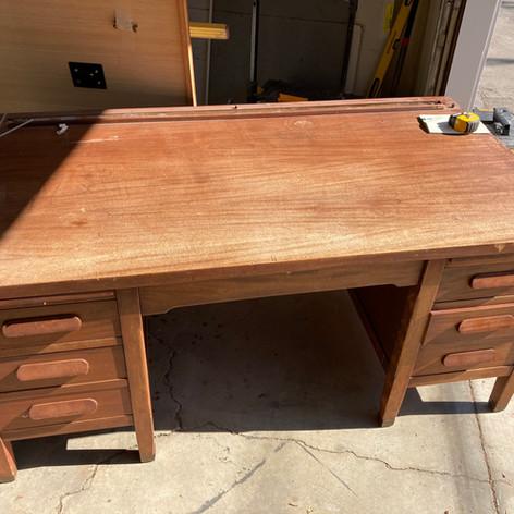 Mahogany Rolltop Desk Before