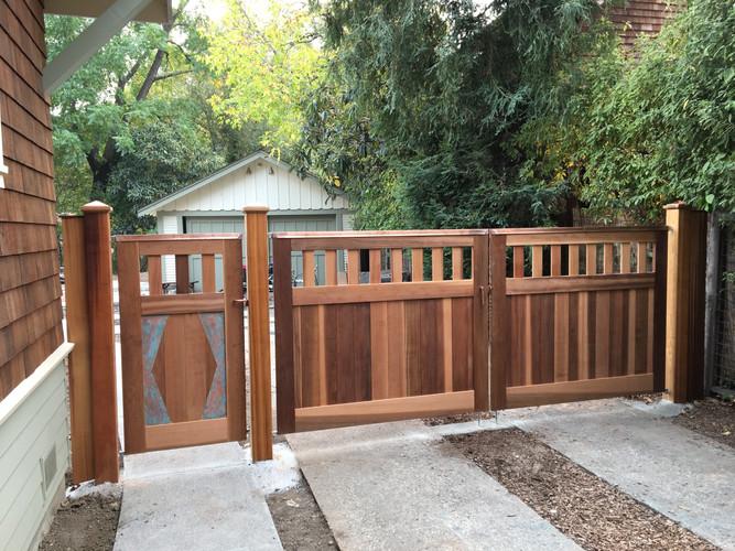 Western Red Cedar and Copper Gates