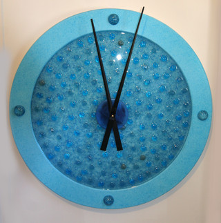 Resin and Glass Bead Clock 1