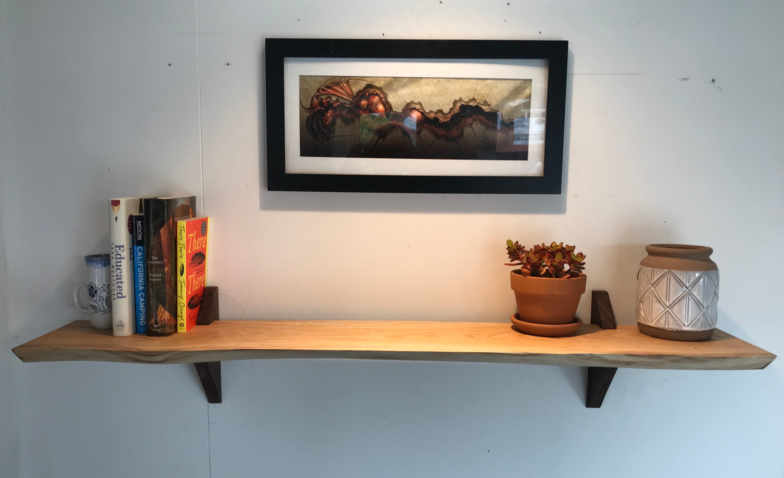 Reclaimed Live Edge Shelf