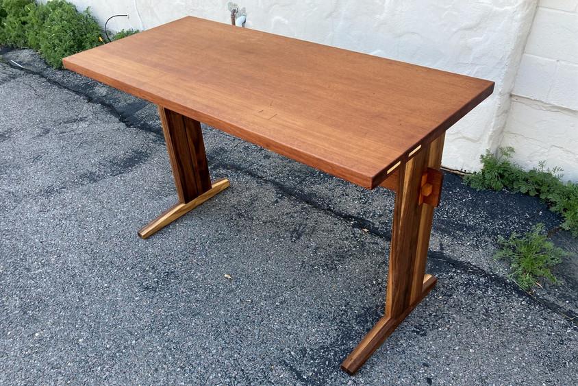 Reclaimed Mahogany and Walnut Desk