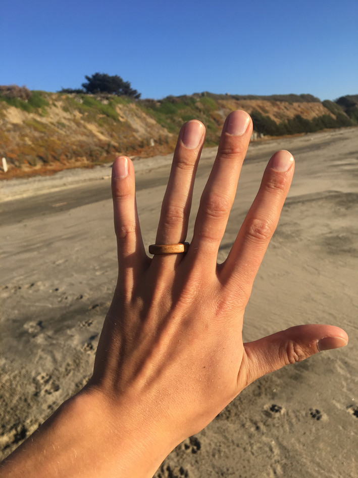 Walnut Engagement Ring