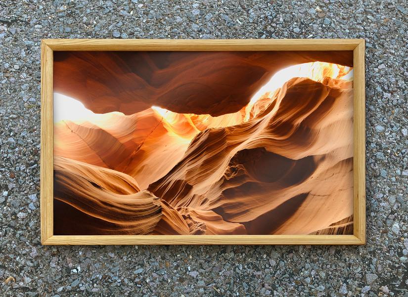 Reclaimed Cedar Frame with Photo Print