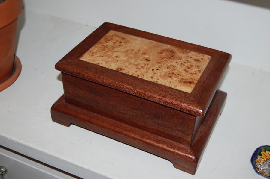 Mahogany and Elm Jewelery Box