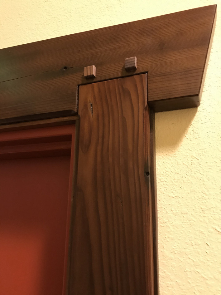 Reclaimed Redwood Door Casement