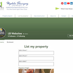 Real Estate - List my property form