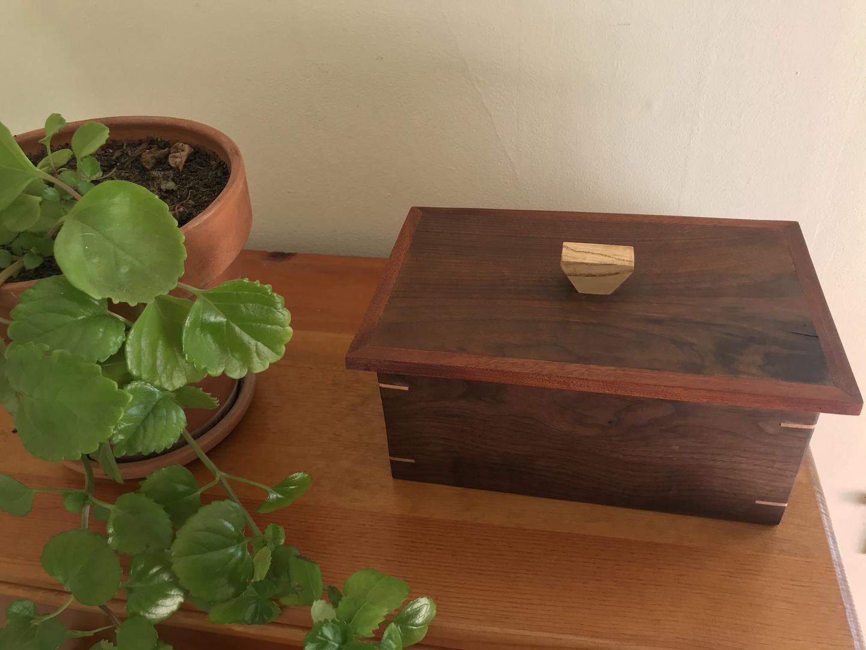 Walnut and Mahogany Box