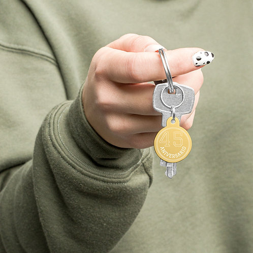 Engraved Keychain (Gold or Silver Color)