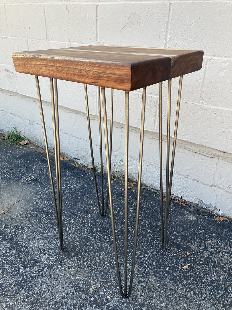 Reclaimed Black Acacia End Table