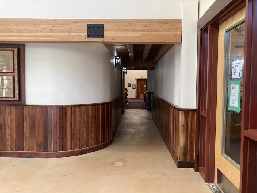 Reclaimed Redwood Lobby