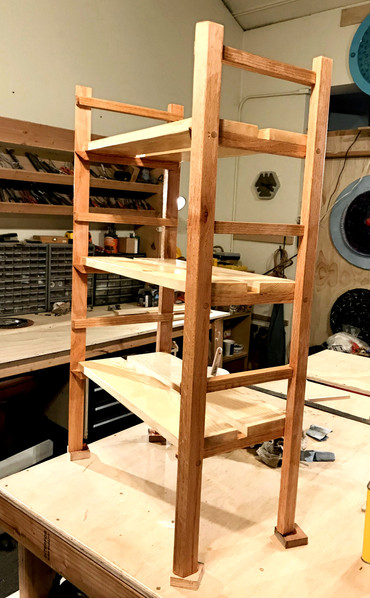 Oak and Pine Bookshelf