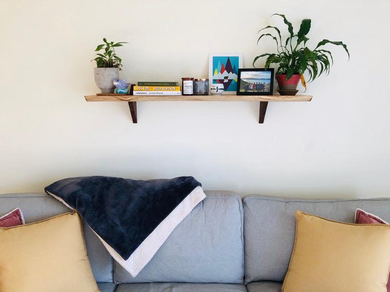 Honey Locust Live Edge Shelf
