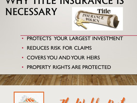 Why title insurance is necessary?