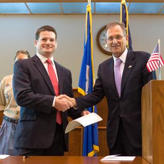 Chris and Hungarin Ambassador Szapáry