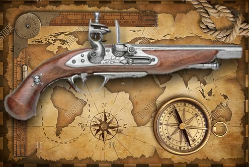 18TH Century Pirate Flintlock Non-Firing Replica