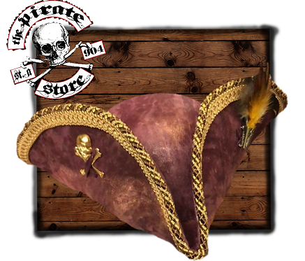 Burgundy Captains Pirate Hat