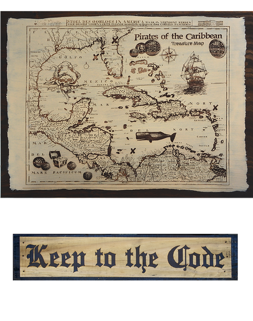 Treasure Map & Pirate Signs