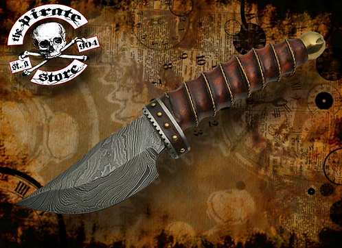 """9.25"""" WIRE WRAP DAMASCUS SKINNER"""