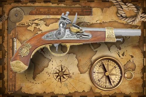 Colonial 1806 Replica Napoleonic Flintlock Pistol Non-Firing Gun