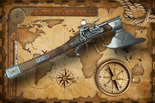 Axe Pistol - German 17th Century Non-Firing Replica